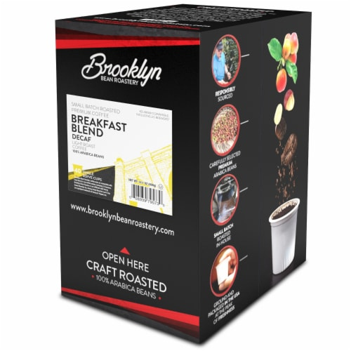 Brooklyn Beans DECAF Coffee Pods, for Keurig 2.0, Breakfast Blend, 40 Count Perspective: back
