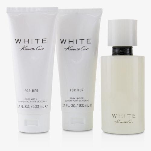 Kenneth Cole White Coffret: EDP Spray 100ml/3.4oz + Body Lotion 100ml/3.4oz + Bath & Shower G Perspective: back