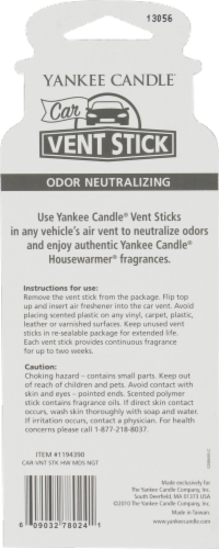 Yankee Candle Car Vent Stick MidSummer's Night Air Freshener Perspective: back