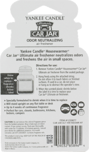 Yankee Candle Car Jar Midsummer's Night Ultimate Air Freshener Perspective: back