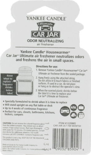 Yankee Candle Car Jar Macintosh Ultimate Air Freshener Perspective: back