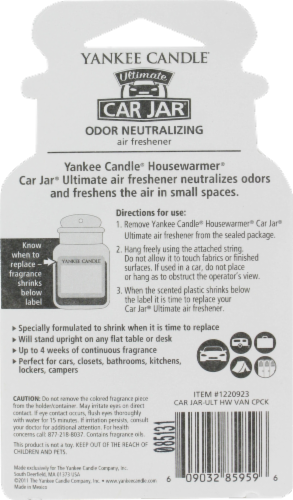 Yankee Candle Car Jar Ultimate Vanilla Cupcake Air Freshener Perspective: back