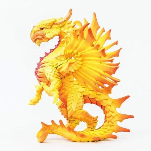 Safari 10134 Sun Dragon Figurine, Multi Color Perspective: back