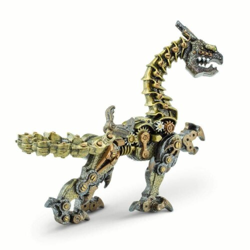 Steampunk Dragon Toy Perspective: back