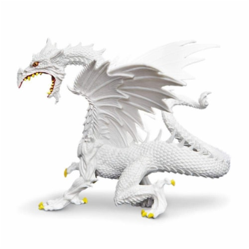 Glow-in-the-Dark Snow Dragon Toy Perspective: back