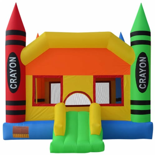 The Crayon Bounce House with Slide by Cloud 9 Perspective: back