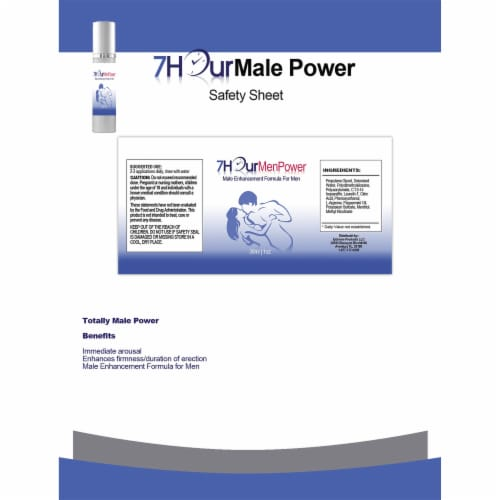 7Hour Men Power Topical Male Enhancement Gel Perspective: back