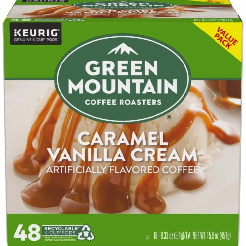 Green Mountain Coffee Caramel Vanilla Cream K-Cup Pods Perspective: back