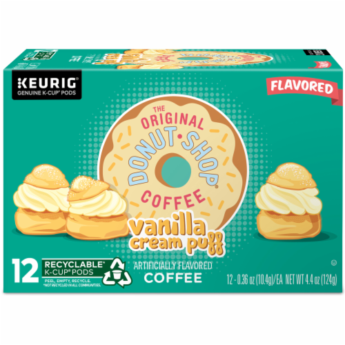 The Original Donut Shop Vanilla Cream Puff Coffee K-Cup Pods Perspective: back