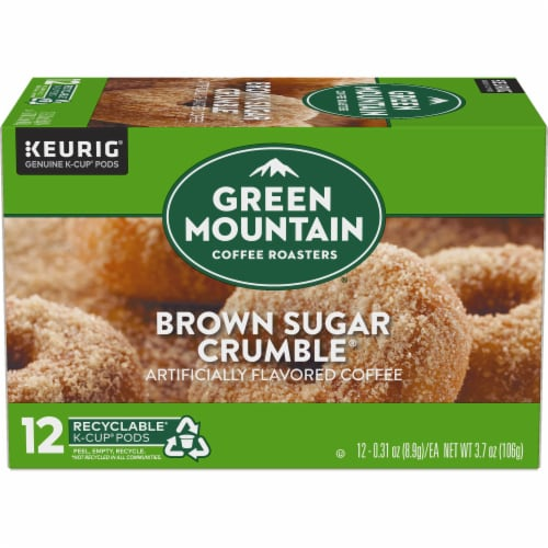 Green Mountain Coffee Brown Sugar Crumble Donut Flavored Coffee K-Cup Pods Perspective: back