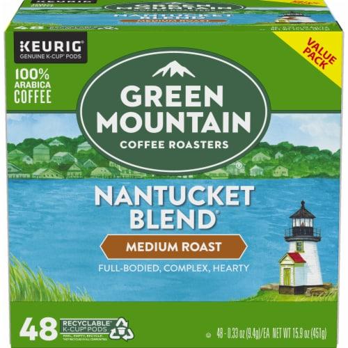 Green Mountain Coffee Roasters Nantucket Blend Medium Roast Coffee K-Cup Pods Perspective: back