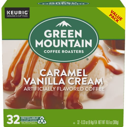 Green Mountain Coffee Caramel Vanilla Cream Coffee K-Cup Pods Perspective: back