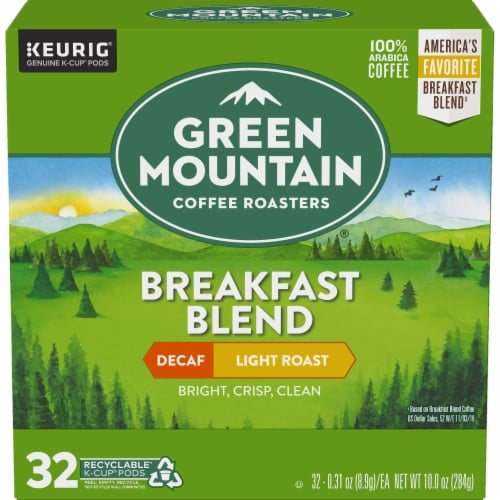 Green Mountain Coffee Roasters Breakfast Blend Decaf Light Roast K-Cup Pods Perspective: back
