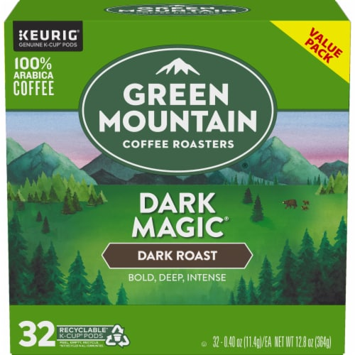 Green Mountain Coffee Dark Magic Dark Roast K-Cup Pods Perspective: back