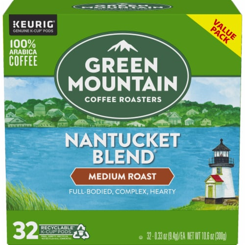 Green Mountain Coffee Nantucket Blend Medium Roast K-Cup Pods Perspective: back