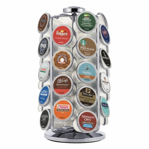 Keurig® K-Cup Pod Carousel - Silver Perspective: back