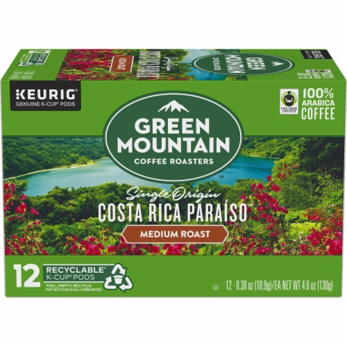 Green Mountain Costa Rica Coffee K-Cup Pods Perspective: back
