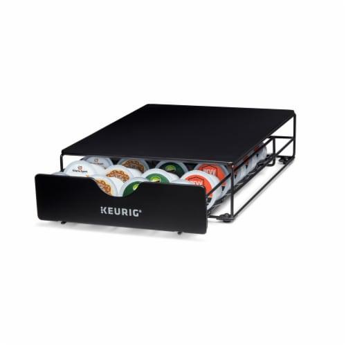 Keurig® K-Cup® Pod Non-Rolling Storage Drawer - Black Perspective: back