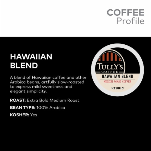 Tully's Coffee Hawaiian Blend Coffee K-Cup Pods Perspective: back