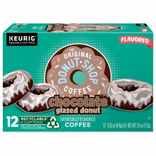 The Original Donut Shop Chocolate Glazed Donut Medium Roast Coffee K- Cup Pods Perspective: back