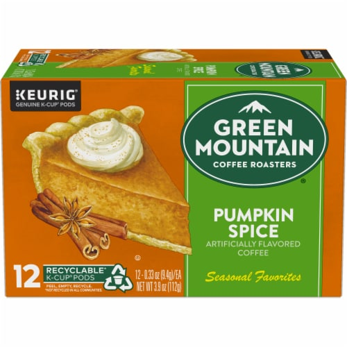Green Mountain Coffee® Limited Edition Pumpkin Spice Coffee K-Cup Pods Perspective: back