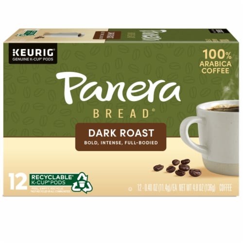 Panera Bread at Home Dark Roast Coffee K-Cup Pods Perspective: back