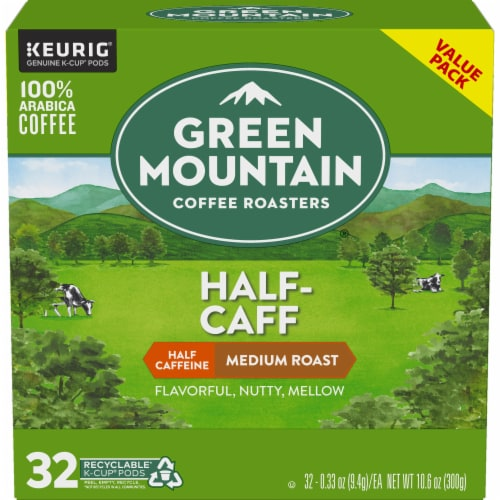 Green Mountain Coffee® Half-Caff Medium Roast Coffee K-Cup Pods Perspective: back