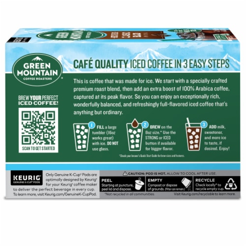 Green Mountain Coffee RoastersBrew Over Ice Classic Black K-CupPods Perspective: back