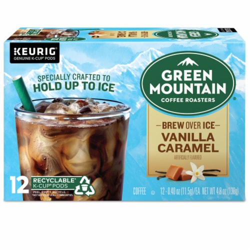 Green Mountain Coffee Roasters Brew Over Ice K-Cup Pods Perspective: back
