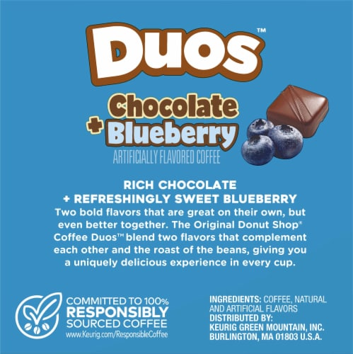 The Original Donut Shop Duos Chocolate Blueberry K-Cup Pods Perspective: back