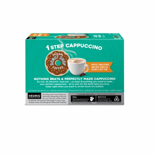 The Original Donut Shop One Step Classic Cappucino K-Cup Pods Perspective: back