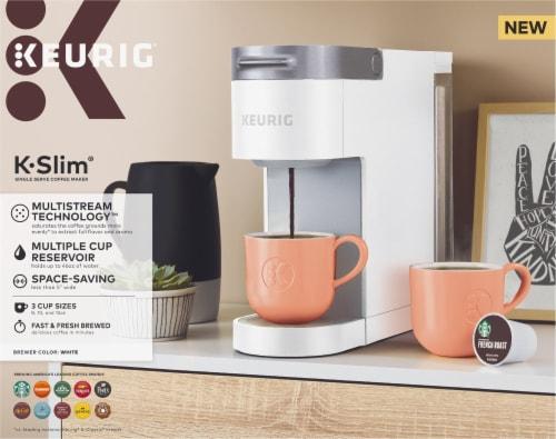 Keurig® K-Slim® Single Serve Coffee Maker - White Perspective: back