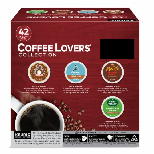 Keurig Coffee Lovers' Collection Single-Serve K-Cup Pod Variety Pack Perspective: back