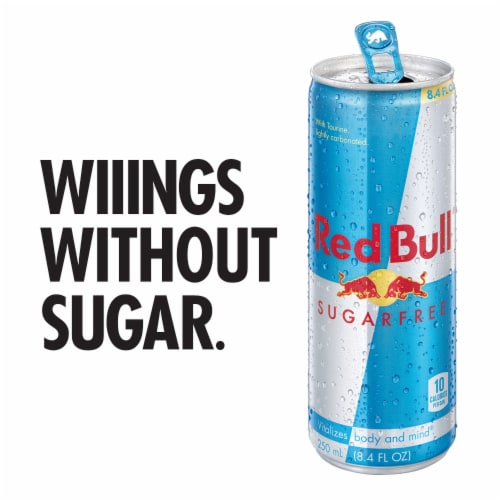 Red Bull Sugar Free Energy Drink Perspective: back