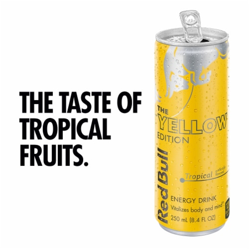 Red Bull The Yellow Edition Energy Drink Perspective: back