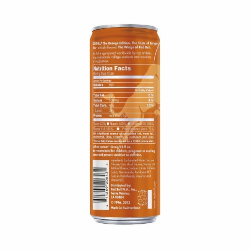 Red Bull The Orange Edition Tangerine Energy Drink Perspective: back