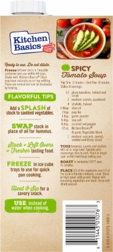 Kitchen Basics® Organic Vegetable Stock Perspective: back