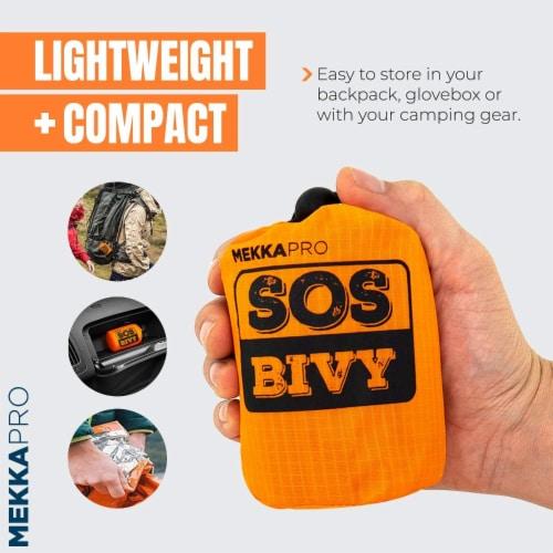 MEKKAPRO SOS Emergency Thermal Bivy Sleeping Bag with Survival Whistle, Survival Bivvy Sack Perspective: back