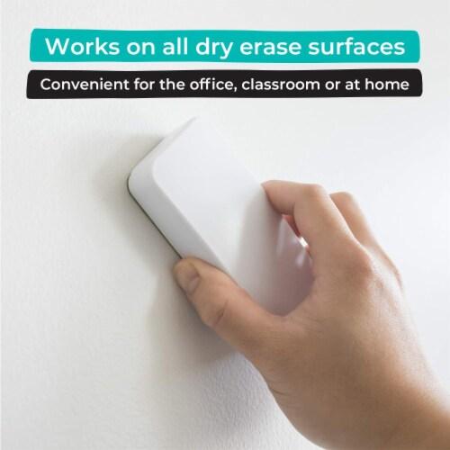 WallDeca Magnetic Premium Dry Eraser, Felt Bottom Surface, Made for White Boards (White) Perspective: back