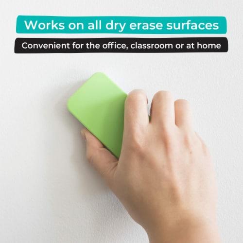 WallDeca Magnetic Premium Dry Eraser, Felt Bottom Surface, Made for White Boards (Green) Perspective: back