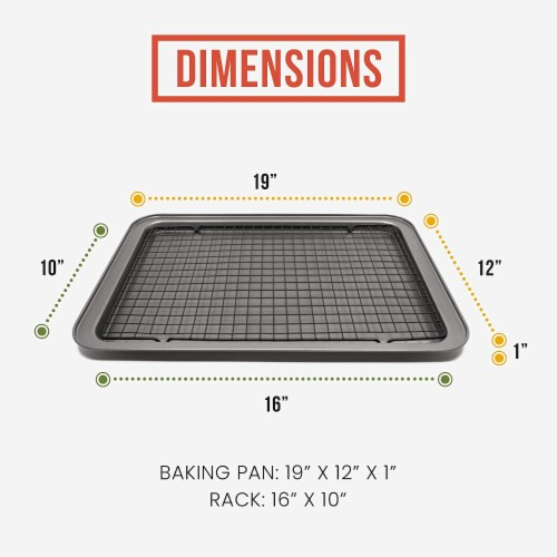 Chef Pomodoro Non-Stick Baking Tray and Cooling Tray Set, 2-Piece Perspective: back