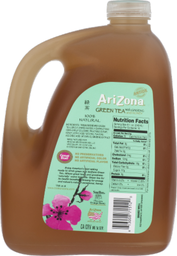 AriZona Ginseng and Honey Green Tea Perspective: back