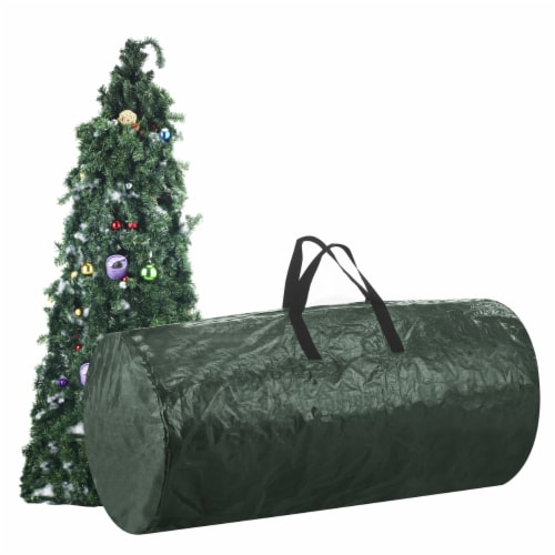 Christmas Tree Zipper Storage Bag Holds Fake Unassembled Trees up to 9 Ft High Perspective: back