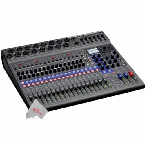 Zoom Livetrak L-20 Digital Mixer Multitrack Recorder + Mic Accessory Bundle Perspective: back