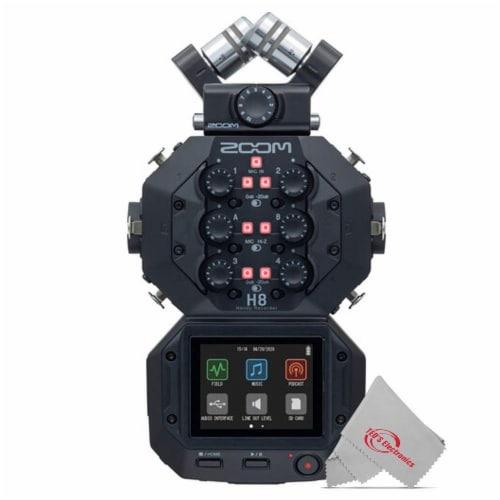 Zoom H8 8-input 12-track Digital Handy Audio Recorder + Zdm-1 Podcast Mic Bundle Perspective: back