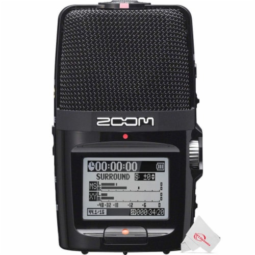 Zoom H2n Ext 2-input 4 Track Handy Digital Audio Recorder + Zdm-1 Mic Pack Perspective: back