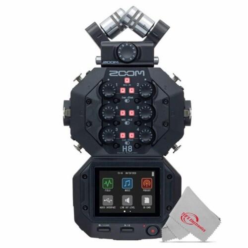 Zoom H8 8-input 12-track Digital Recorder + Mic Accessory Bundle + Bracket Perspective: back
