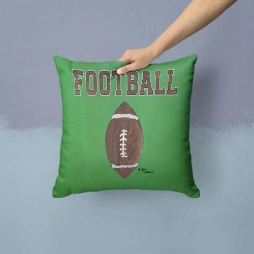 Carolines Treasures  8487PW1414 Football   Canvas Fabric Decorative Pillow Perspective: back