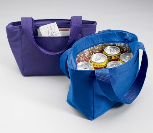 Carolines Treasures  LH9395BU-8808 Blue Pomeranian  Lunch Bag or Doggie Bag LH93 Perspective: back