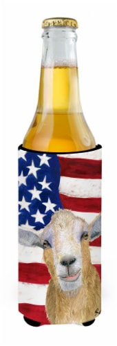 USA American Goat Ultra Beverage Insulators for slim cans Perspective: back